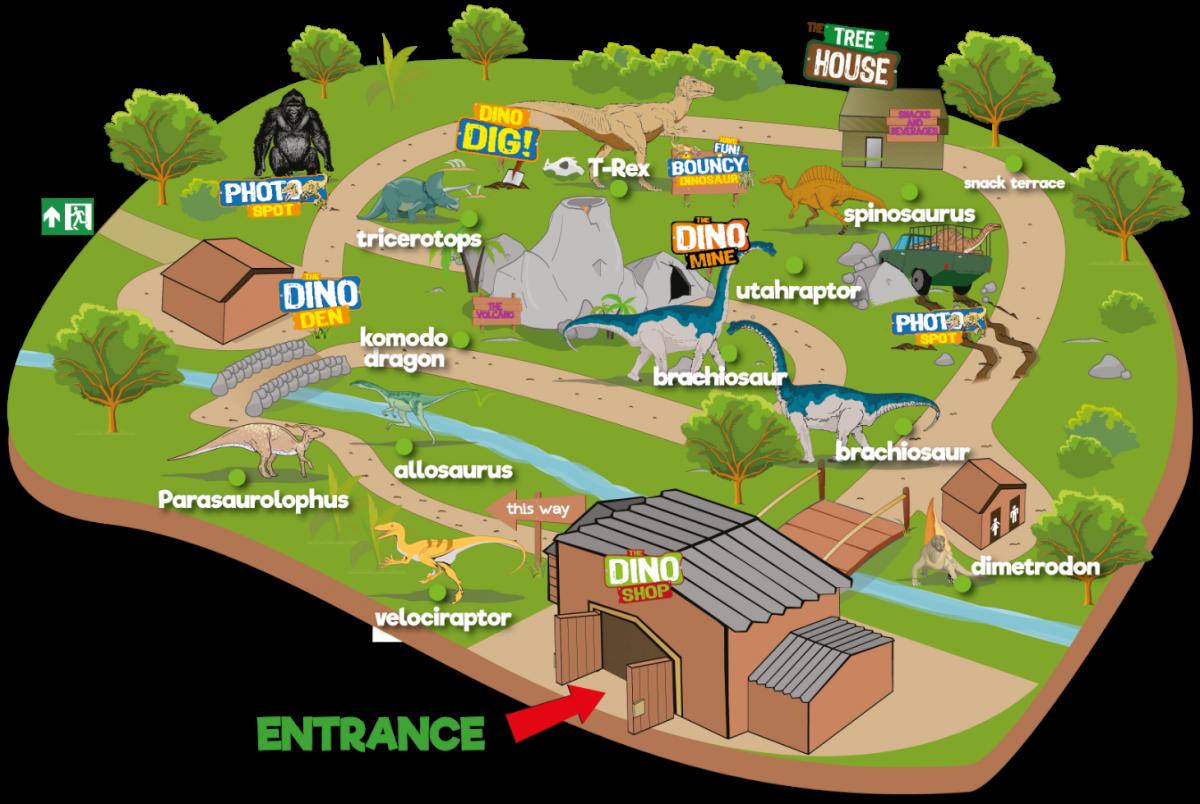 Dino Park Map